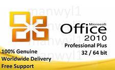 Microsoft Office 2010 Professional Pro Plus 32/64 Bits Clé de licence ferraille PC