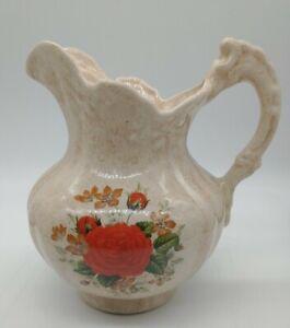 Vintage Ceramic Pitcher Figural Roman Church Bishop King Figure excellent condit