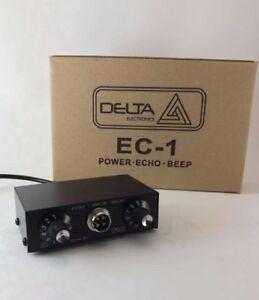 DELTA EC1 DYNAMIC MIC AMPLIFIER / ECHO CHAMBER w/ ROGER BEEP 4 pin Cobra CB HAM