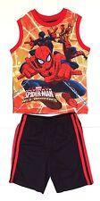 Marvel Ultimate Spider-Man Web-Warriors Tank Top & Shorts 2 Piece Set NEW