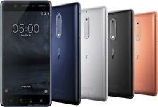 "Nokia 5 -16GB- 5.2""- Unlocked -13MP -3GB RAM Blue/Silver/Copper/Black Smartphone"