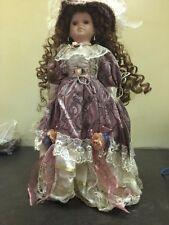 "Porcelain Doll Ja Designs' Crimson Collection serial #80141, 20"" tall doll"
