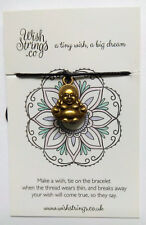 Tibetan Wish String Cord Bracelet BUDDHA LUCKY CHARM  Wealth - Christmas Gift