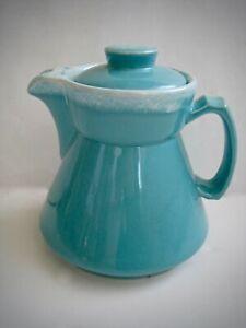 Vintage Hall's Crestone Turquoise Mid Century Modern Coffee Tea Pot