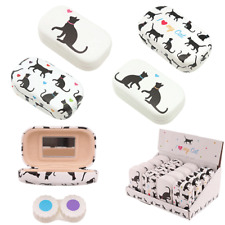 Cat Design Contact Lens Case - BNWT