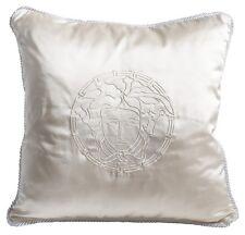 """VERSACE Medusa Pillow - 19.7""""- White"""