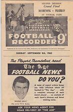 Australian Rules Football Memorabilia Programmes