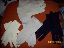 Lot of 4 Vintage gloves-Leather- Nylon - Knitted - Collectibles - Women's