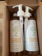 2X Puracy Natural Baby Tear Free Gentle Shampoo& Body Wash, Citrus Grove 16oz.