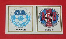 N°369 A-B ECUSSONS D2 O. AVIGNON - AS BEZIERS PANINI FOOTBALL 77 1976-1977