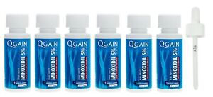 Qgain High Purity Minoxidil 5% for MEN Low Alcohol Formula 6 month Expiry 04/22