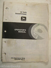 John Deere 42 Inch Snowthrower Omm75658 17 Operator'S Manual