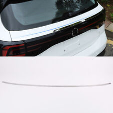Steel Rear Trunk Lid Decorative Cover Trim For Volkswagen T-Cross 2019 - 2020