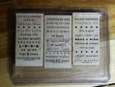 Rubber Stamp-Stamp in' Up! - So Many Sayings- Set of 3 Decorative Rubber Stamps