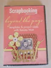 NEW DVD SCRAPBOOKING MEMORIES BEYOND THE PAGE RENATA WATT TEMPLATES AND PROJECT