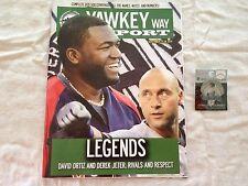 Combo Derek Jeter Final Game Program Scorecard (Fenway) and Pin (Yankee Stadium)