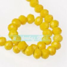 Opaque Rondelle Faceted Czech Glass Loose Spacer Beads 3mm 4mm 6mm 8mm 10mm 12mm