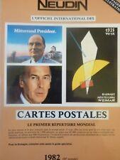 Catalogue Neudin 1982, l'argus international des cartes postales