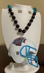 Super Bowl XLII Beads & Helmet Necklace NY Giant New England Patriots Mardi Gras
