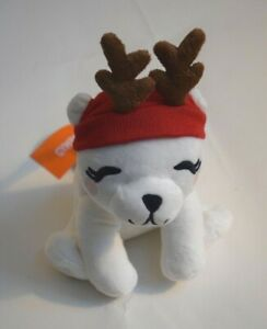 NWT Gymboree Holiday Shop Christmas Polar Bear with Antlers Girls Coin Purse