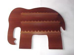 36pc Elephant Wooden Thimble Display Rack ( Mahogany )( huge range - see list )