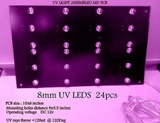 LED 385 -410 nm Uv Light panel assembled  24 UV led   FOR UV PASS BOX DIY   PCB
