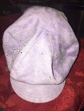 Lilac child cap with rhinestones good condition
