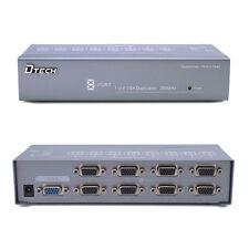 Powered VGA Splitter Amplifier Box 8 Port SVGA Booster 1 PC Video into 8 Monitor