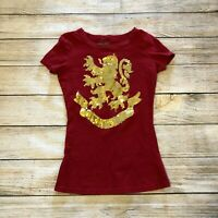 Wizarding World of Harry Potter Sequin Size Small Red T Shirt Gryffindor  Brave