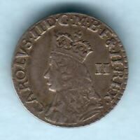 Great Britain.  Charles 11 (1662-85) - Undated Twopence.. Milled Issue.. VF