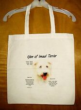 """Glen Of Imaal Terrier """"History of the Breed"""" Cotton Tote Bag / 15""""x15"""""""