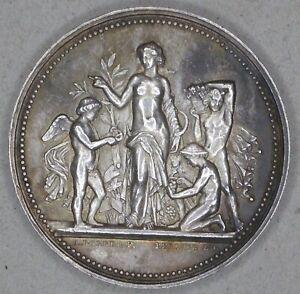Horticulture, femme nue, par Borel, argent