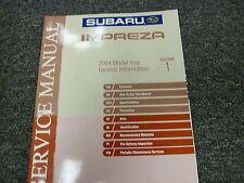 2004 Subaru Impreza Section 1 General Information Shop Service Repair Manual