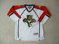 Reebok Florida Panthers Hockey Jersey Youth Extra Large White SEWN Kids Boys A10