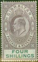 Gibraltar 1903 4s Dull Purple & Green SG53 Fine & Fresh Lightly Mtd Mint (5)