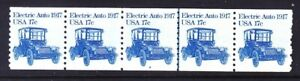 US 1906 17¢ Electric Auto PNC Strip of 5 Plate #2 Line