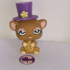Littlest PetShop SOURIS MARRON AVEC CHAPEAU VIOLET 462 E37 Pet Shop