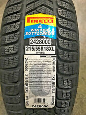 4 New 215 55 18 Pirelli Winter Sotto Zero-3 Snow Tires