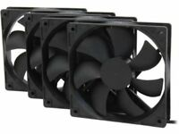 Rosewill 120mm Long Life Sleeve Case Black Case Fan For Computer Cases, 4-Pack