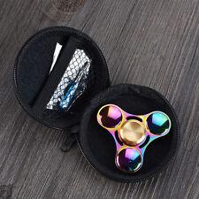 Rainbow Color - EDC Hand Fidget Spinner - Metal Alloy Focus Toy Gift - 3 Leaf