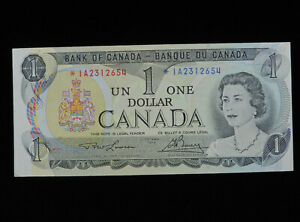 1973 $1 Dollar Bank of Canada Banknote Replacement Bill *IA 2312654 EF Grade