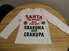 NWT Children's Place Boys 4T Christmas Grandma Grandpa Santa Tee