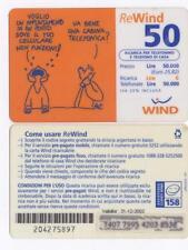 WIND REWIND RICARICA USATA DA L. 50.000 - VOGLIO - FAT