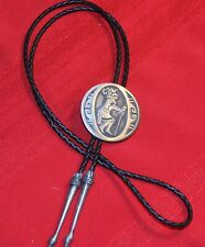 New ListingNative American Indian dancer bolo tie, 2 inch, not sterling, older tips