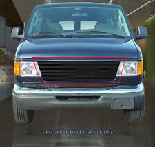 Fits 92-07 Ford E-150 E-250 E-350  Econoline Van Black Billet Grille Grill Fedar