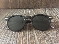 7ff773ff02 THOM BROWNE ROUND BLACK DESIGNER SUNGLASSES DARK GREY LENS NEW WITH CASE