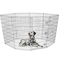 Pet Exercise Play Pen Non-Corrosive Metal Frame Folds Flat Indoor & Outdoor
