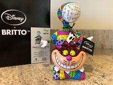 Disney Enesco Romero Britto Alice In Wonderland Cheshire Cat 8 Inch Figurine