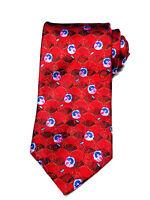 Ermenegildo Zegna Red Silk Floral Microprint Tie - Made in Italy - Pristine