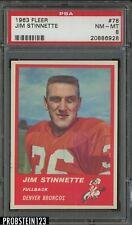 1963 Fleer Football #78 Jim Stinnette Denver Broncos PSA 8 NM-MT